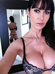 Mature naked self-shot pictures, busty..