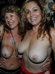 These passionate MILFs exposing their..