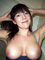 Big tits middle aged babes posing nude..