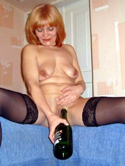 Champagne bottle is perfect for pussy..