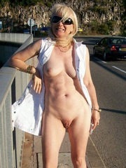 Absolutely nude matures on the highway
