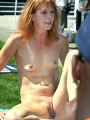 Redhead mommy riding cock