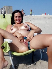 Old nudists on the beach in the Rio