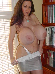 Enormous boobs matures posing naked