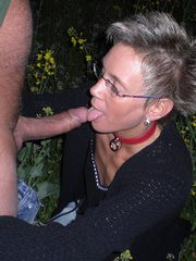 Gray german mature woman sucking dick..