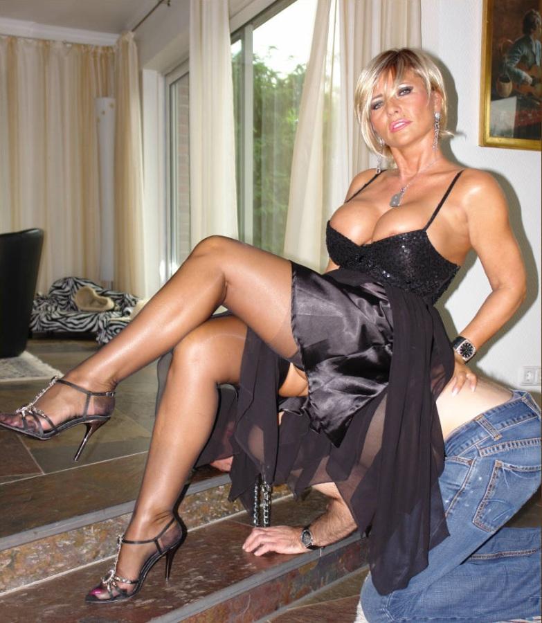 Beautiful mature women in stockings