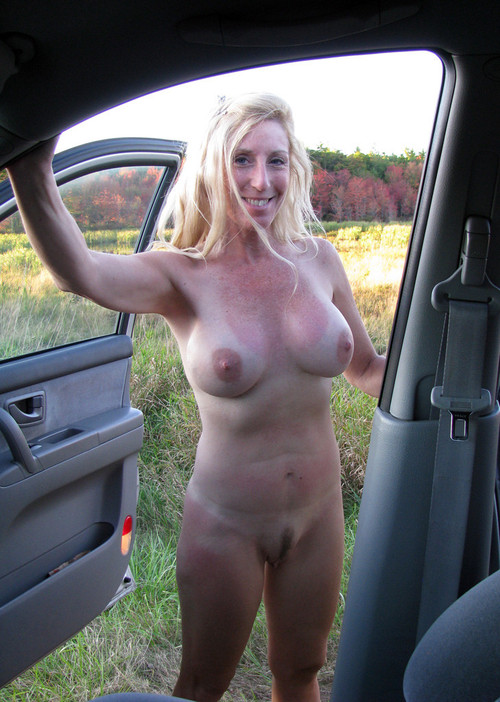 Passionate mature cougars show their boobs outdoor. Full-size picture ...